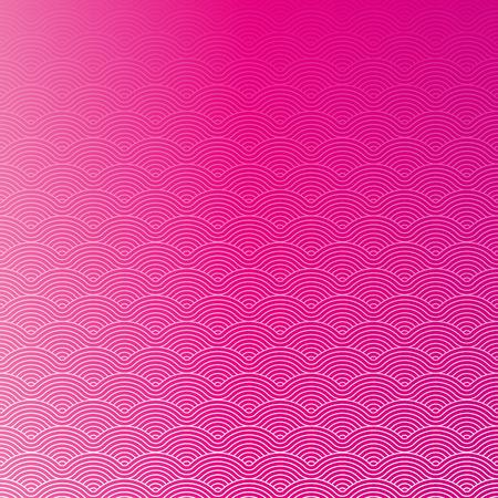 Colorful geometric repetitive vector curvy waves pattern texture background vector graphic illustration Ilustração
