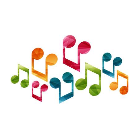Klaviermusik kreative Konzept Illustration. Vektor-Grafik-Vorlage. Standard-Bild - 46791309