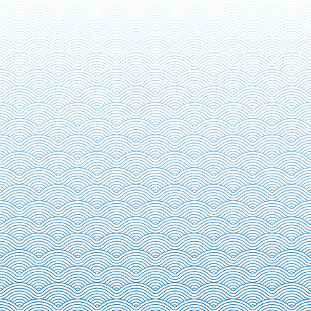 Colorful geometric repetitive vector curvy waves pattern texture background vector graphic illustration Çizim