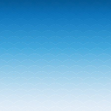 Bunten geometrischen wiederholenden Vektor kurvige Wellen Muster Textur Hintergrund vektorgraphikillustration Standard-Bild - 46085251
