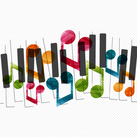 klavier: Klaviermusik kreative Konzept Illustration. Vektor-Grafik-Vorlage.