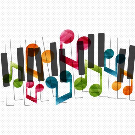 Piano music creative concept illustration. Vector graphic template.