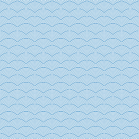 Colorful geometric repetitive vector curvy waves pattern texture background vector graphic illustration 일러스트