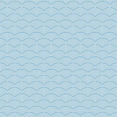 Kleurrijke geometrische repetitieve vector bochtige golven patroon textuur achtergrond vector grafische illustratie