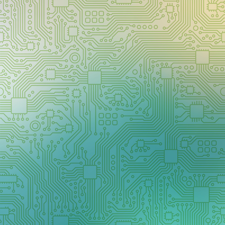 Technology abstract motherboard illustration background. Vector graphic template. Çizim