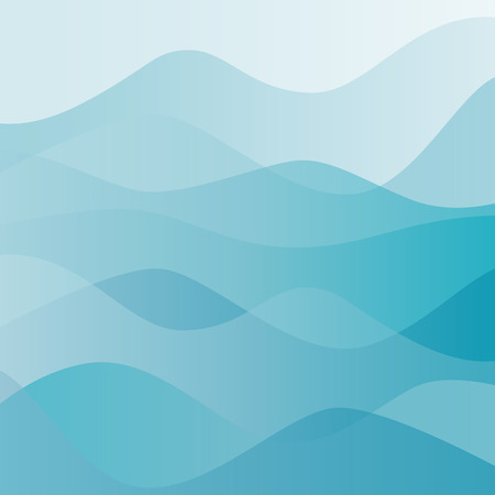 water waves: Abstract water nature landscape. Decorative square background. Vector graphic template.