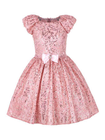 Elegant dress for a girl with pink sequins