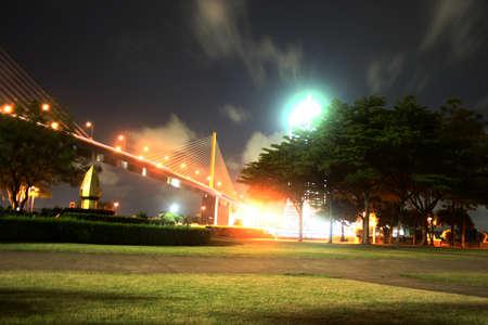 fanatical: Rama 9 bridge at night
