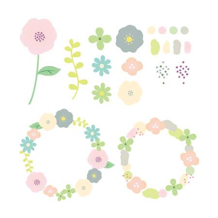 Nordic flower set Reklamní fotografie