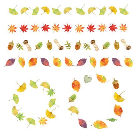 A collection of materials of autumn motifs Reklamní fotografie