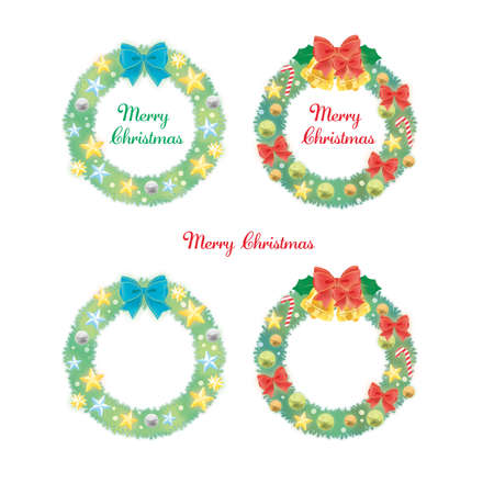 Set of various ornaments and Christmas wreaths Reklamní fotografie