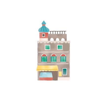 Illustration of a stylish gelato shop in Italy Reklamní fotografie
