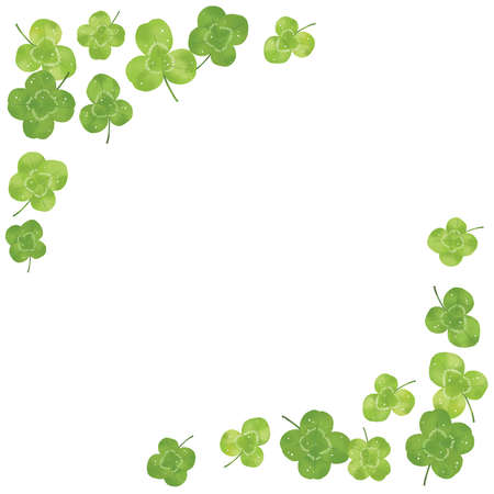 A collection of three-leaf and four-leaf clover materials