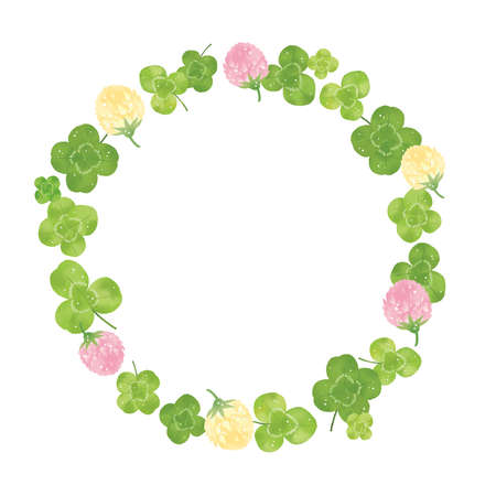 Clover and Shirotsumekusa Materials Wreath