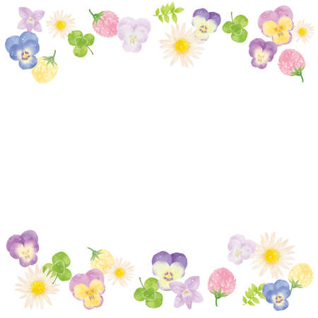 Margaret, Violet and Pansy Frame Top and Bottom