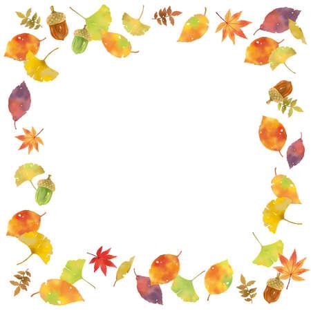 Autumn motif frame
