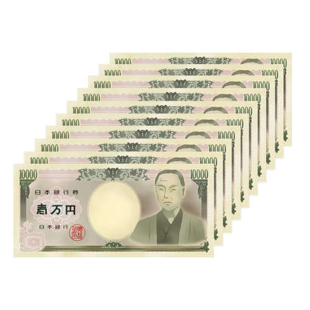 Illustration of 100,000 yen of real touch