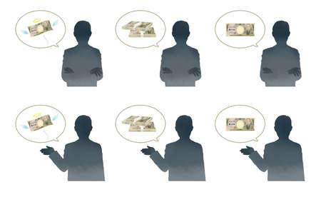 Criminal silhouette illustration of splurge and fraud image