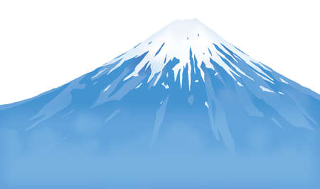 Illustration material of Mt. Fuji