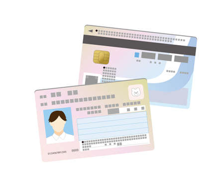 My number card double-sided illustration with the image of the person