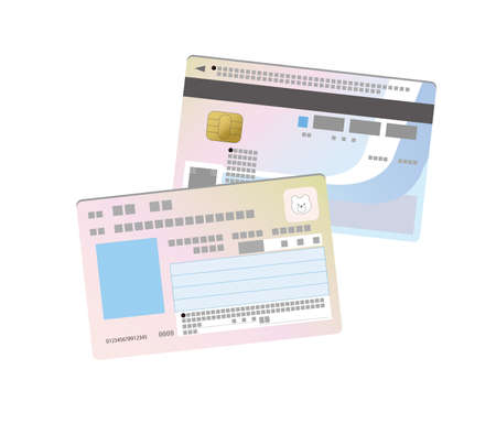 My number card double-sided illustration without photos