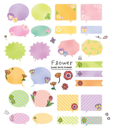Set material of the balloon of the flower motif