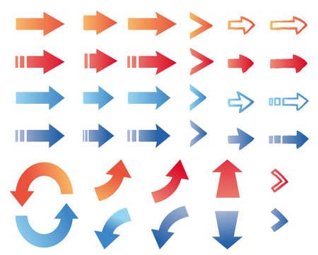 Simple arrow icon illustration set