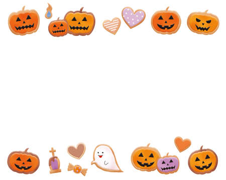 Halloween Motif Icing Cookie Illustration Set