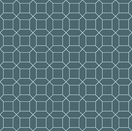 octagon: Vector seamless pattern. Endless texture can be used for printing onto fabric and paper or scrap booking. Blue and white style pattern with octagon, square and lines. Illustration