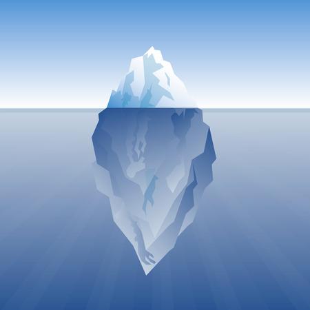 Vektor-Illustration der Eisberg auf einem blauen Hintergrund