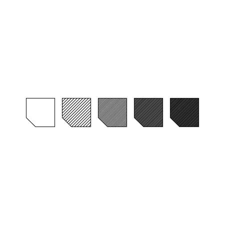 Vector illustration of polygon gragient. Geometric design elements Ilustração