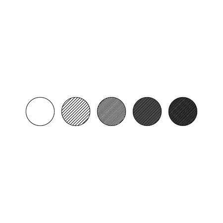 Vector illustration of circle gragient. Geometric design elements Ilustração