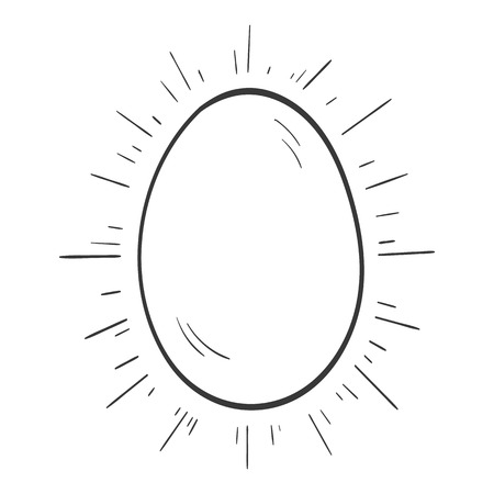 easter symbol egg icon isolated