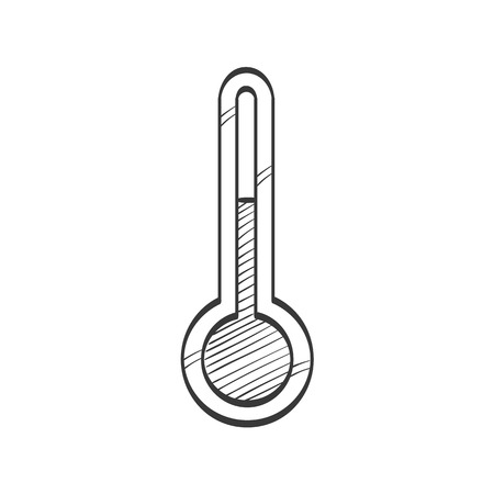 Thermometer vector sketch icon  イラスト・ベクター素材