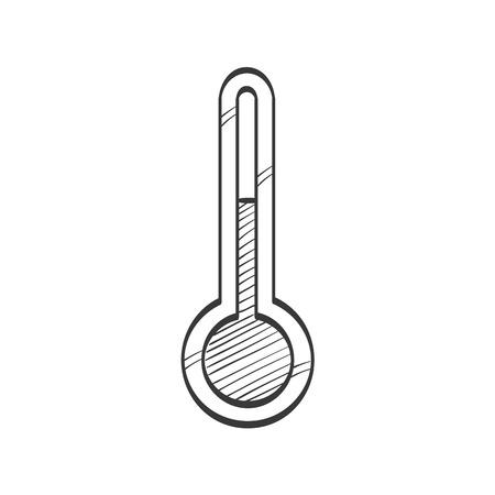 Thermometer vector sketch icon Ilustração