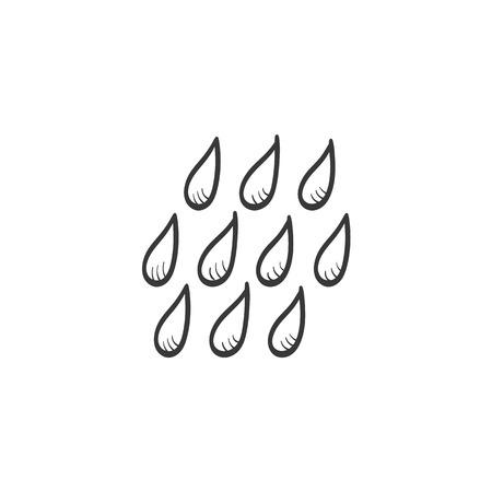 Rain vector sketch icon