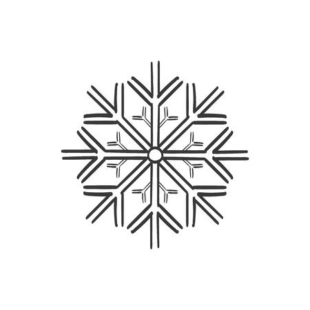 Snowflake vector sketch icon Ilustração