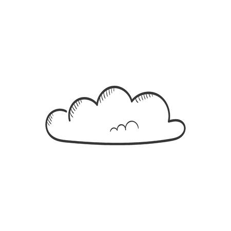 Cloud sketch vector icon