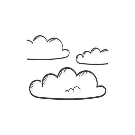 Overcast icon vector sketch