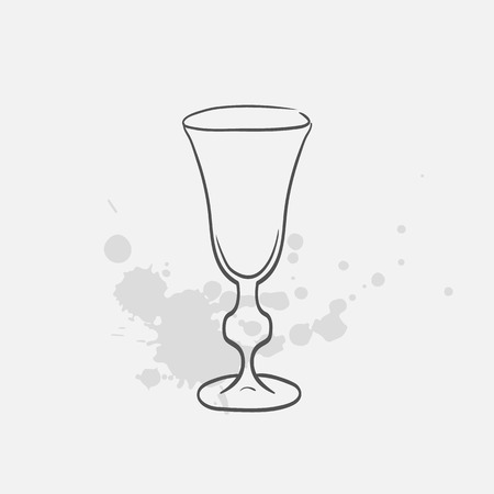 sherry glass vector sketch icon