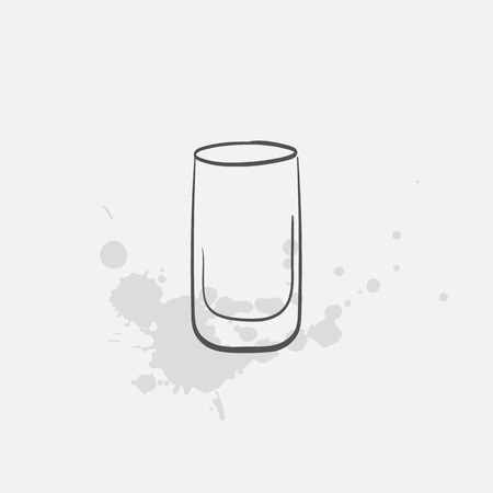 Shot glass vector sketch icon
