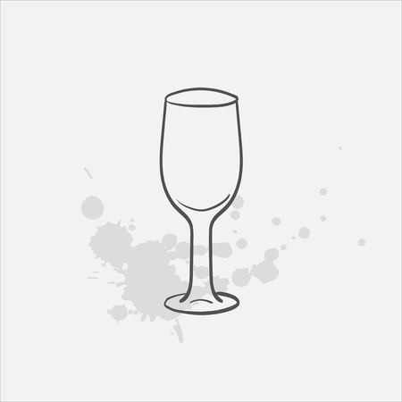 Sherry glass vector sketch icon.