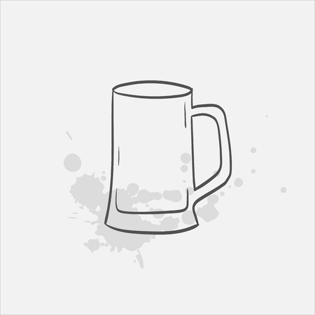beer stein glass vector sketch icon