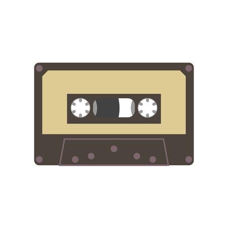 Audio cassette tape vector illustration