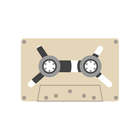 analogue: Audio Cassette tape vector illustration