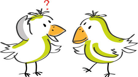 Two talking birds Stock Vector - 10480287