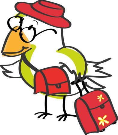Travelling bird Stock Vector - 10502311
