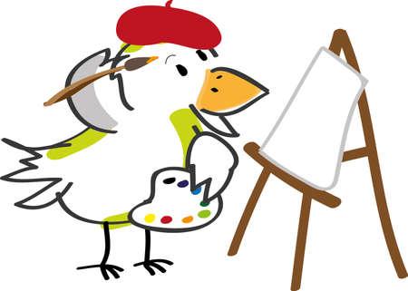 Bird - artist Stock Vector - 10502309