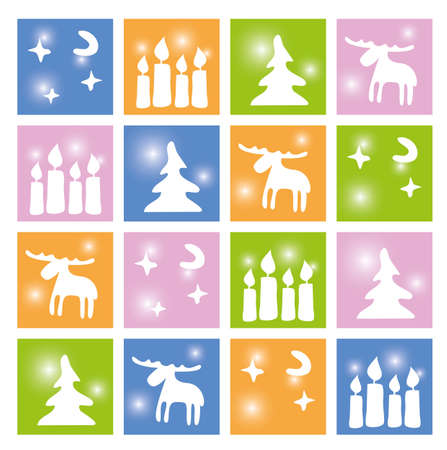 Christmas seamless wallpaper Vector