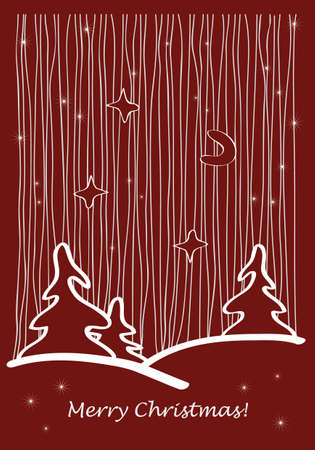 Vector illustration of a Christmas greeting card Vector